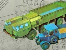 Две модели МАЗ-7310 и Я-3 >>> Открыть в новом окне